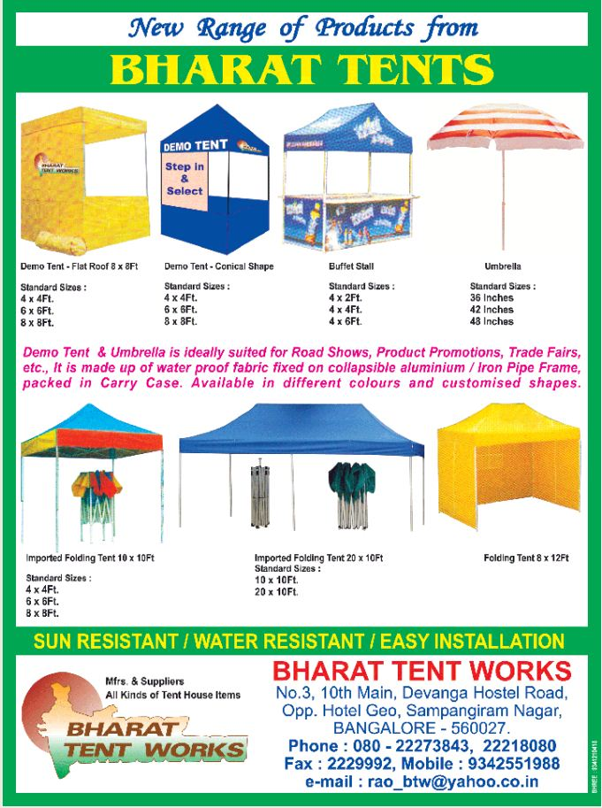 catalogue - 3 for tents